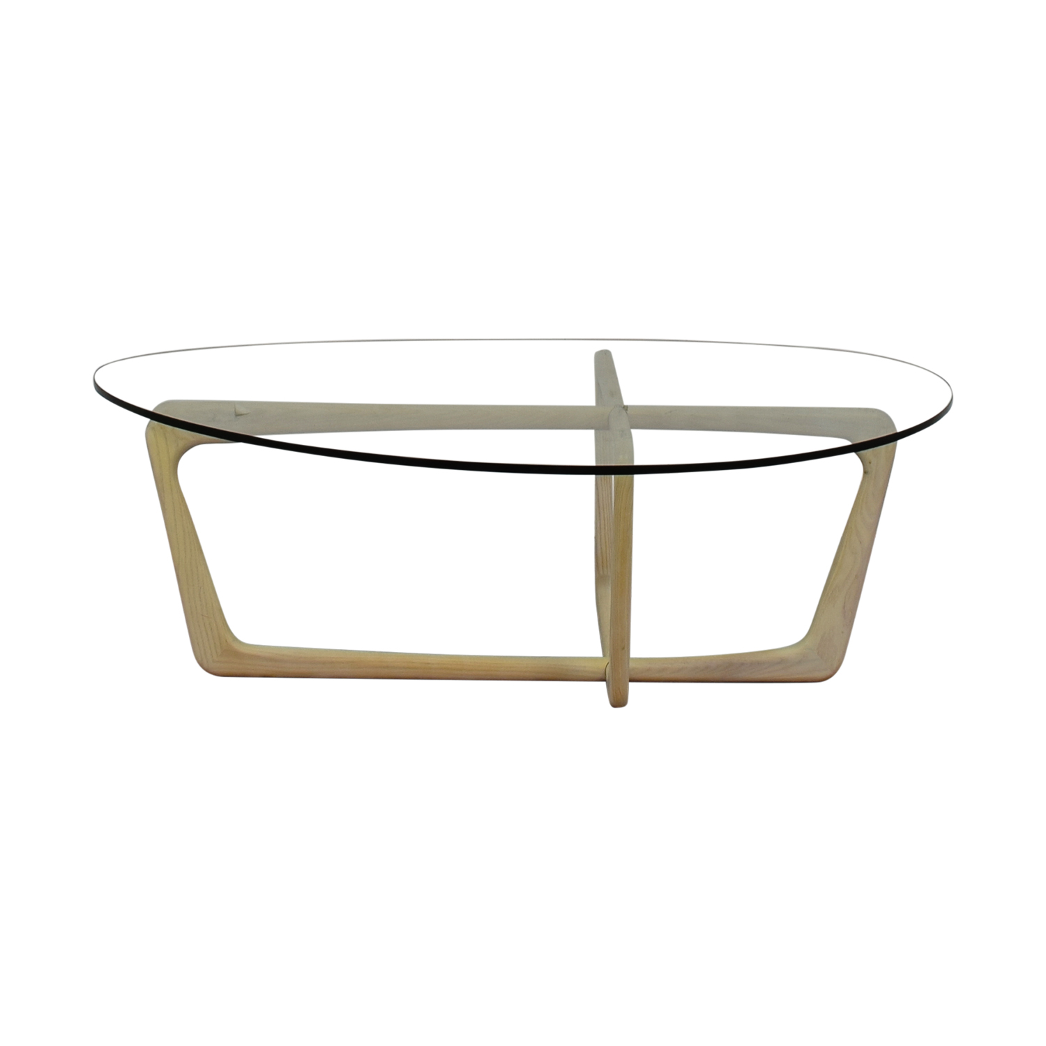 Room & Board Room & Board Dunn Beige and Glass Coffee Table discount