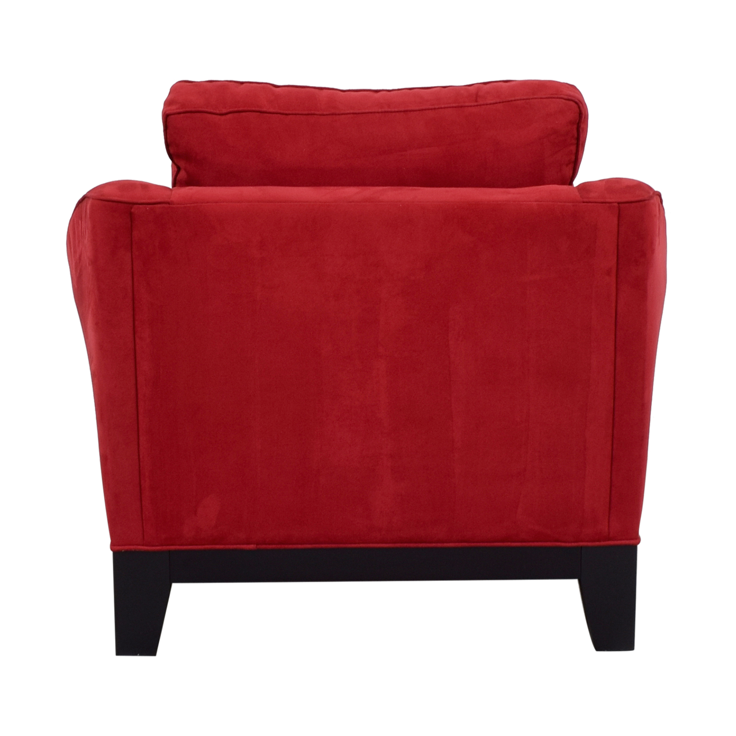 Raymour & Flanigan Raymour & Flanigan Red Microfiber Accent Chair for sale