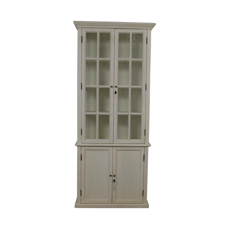Restoration Hardware Restoration Hardware Hampton White Bookcase dimensions