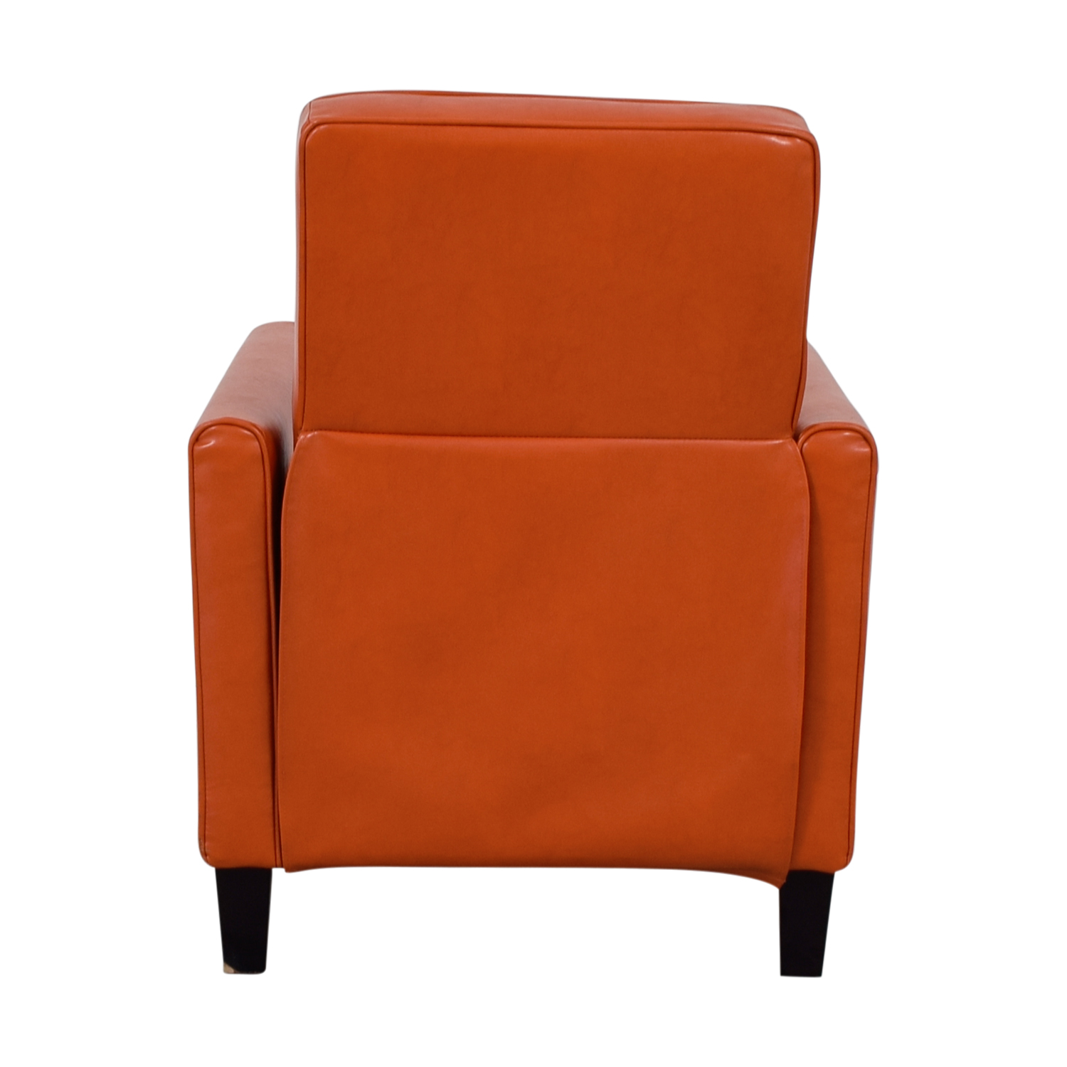 ... Christopher Knight Home Christopher Knight Home Darvis Orange Bonded  Leather Recliner Club Chair ...