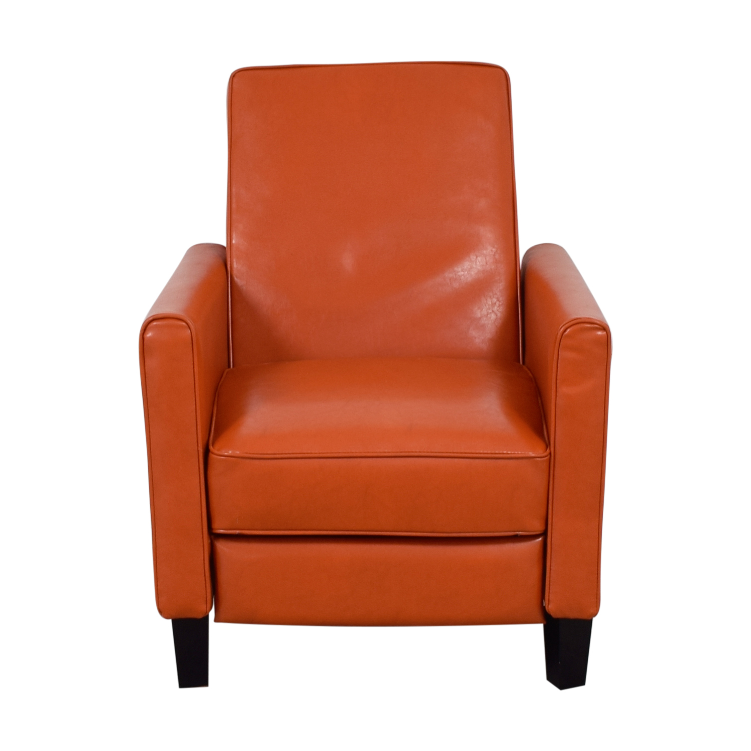 Christopher Knight Home Christopher Knight Home Darvis Orange Bonded Leather Recliner Club Chair price