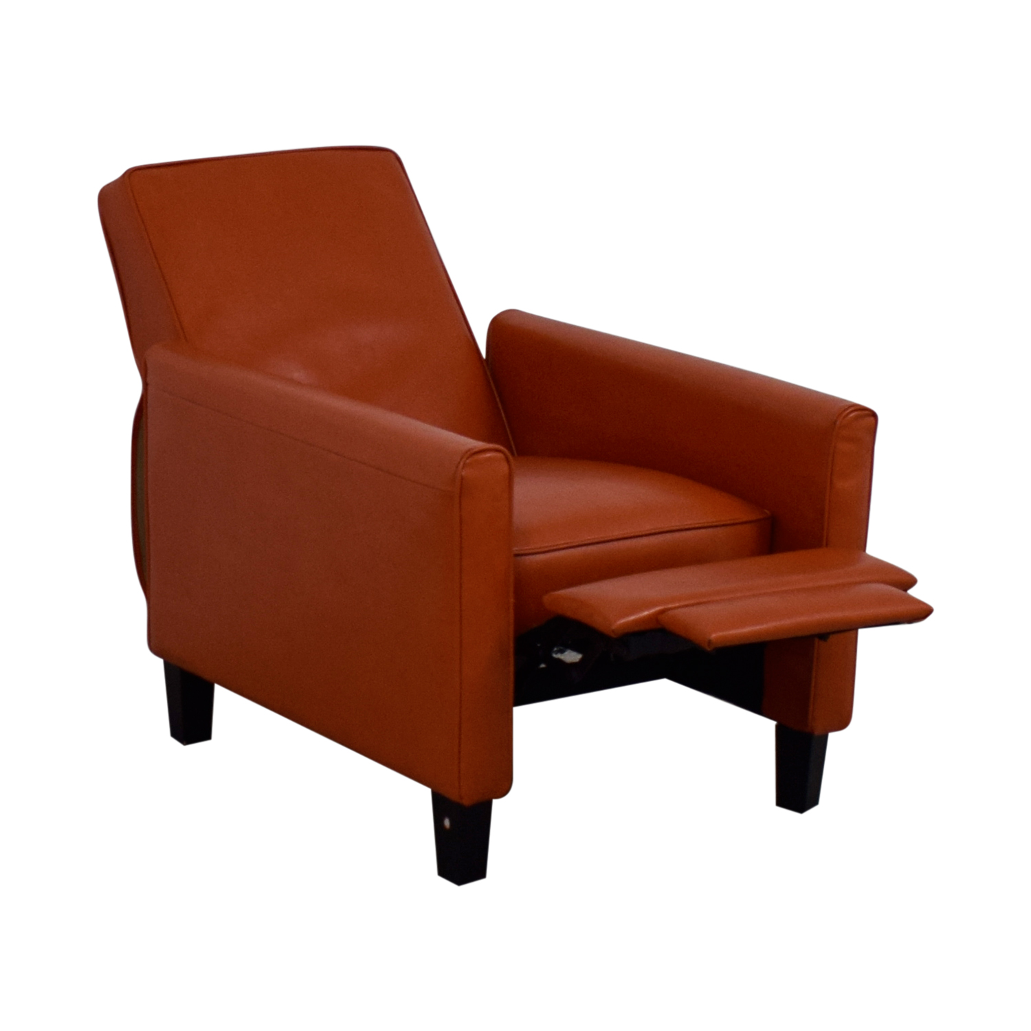 ... Shop Christopher Knight Home Darvis Orange Bonded Leather Recliner Club Chair  Christopher Knight Home ...