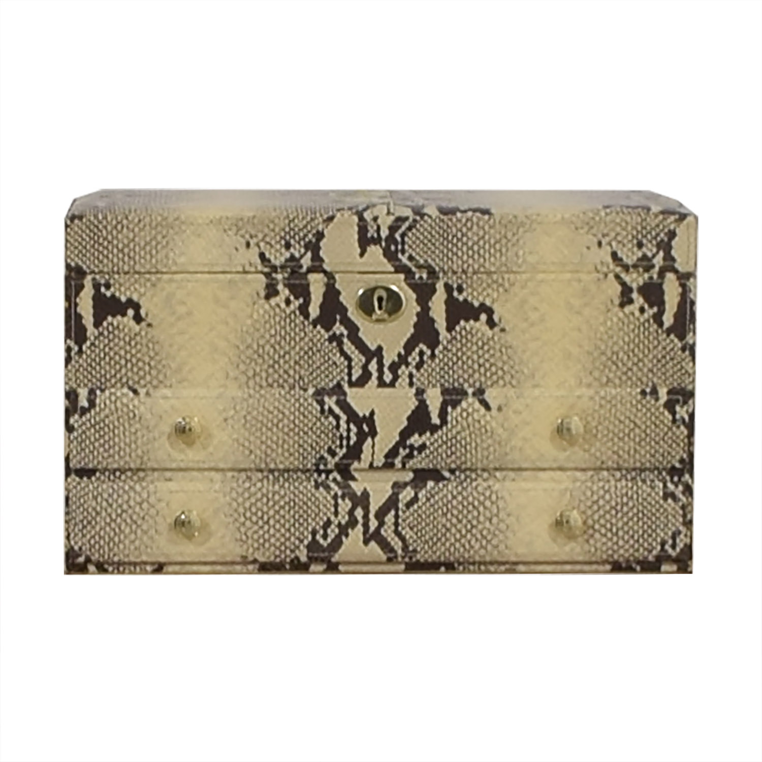 Coach Coach Snakeskin Jewelry Case with Mirror