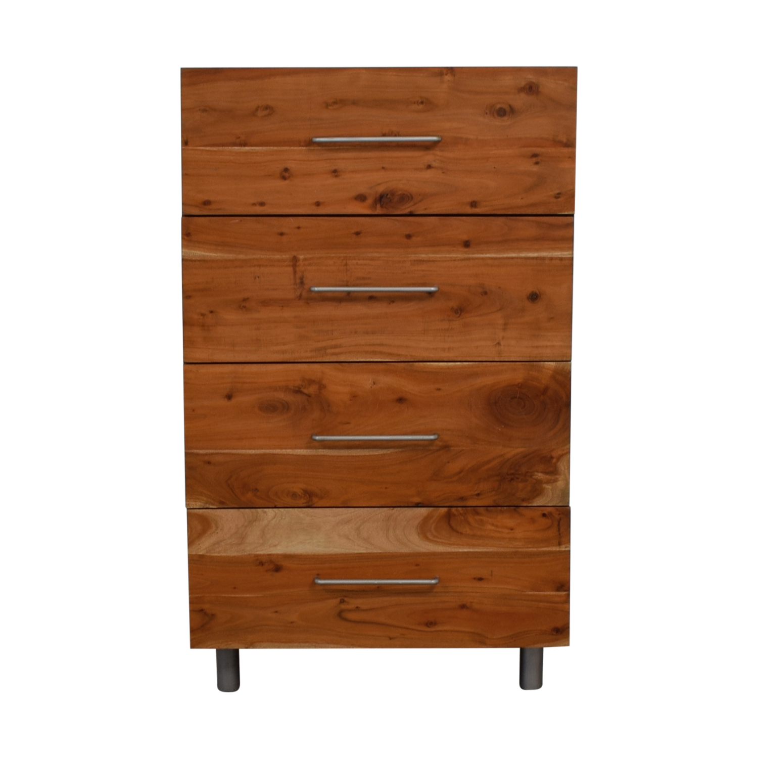 CB2 CB2 Junction Rustic Four-Drawer Tall Chest used
