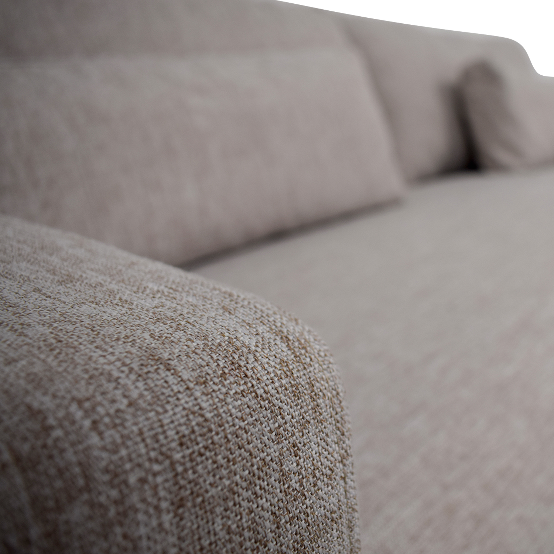 Charly Wheat Single Cushion Sofa