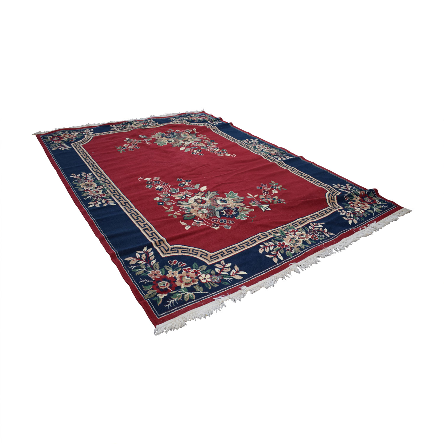 Red Pattern Rug with Tassels price