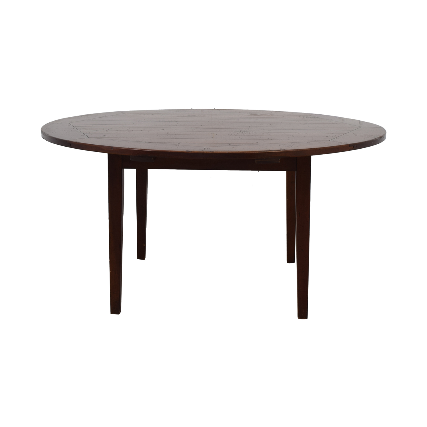 Rustic Round Wood Dining Table discount