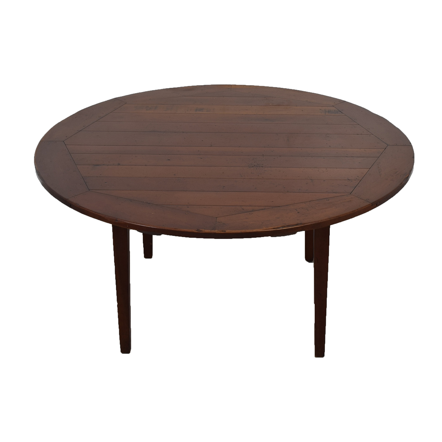 Rustic Round Wood Dining Table dimensions