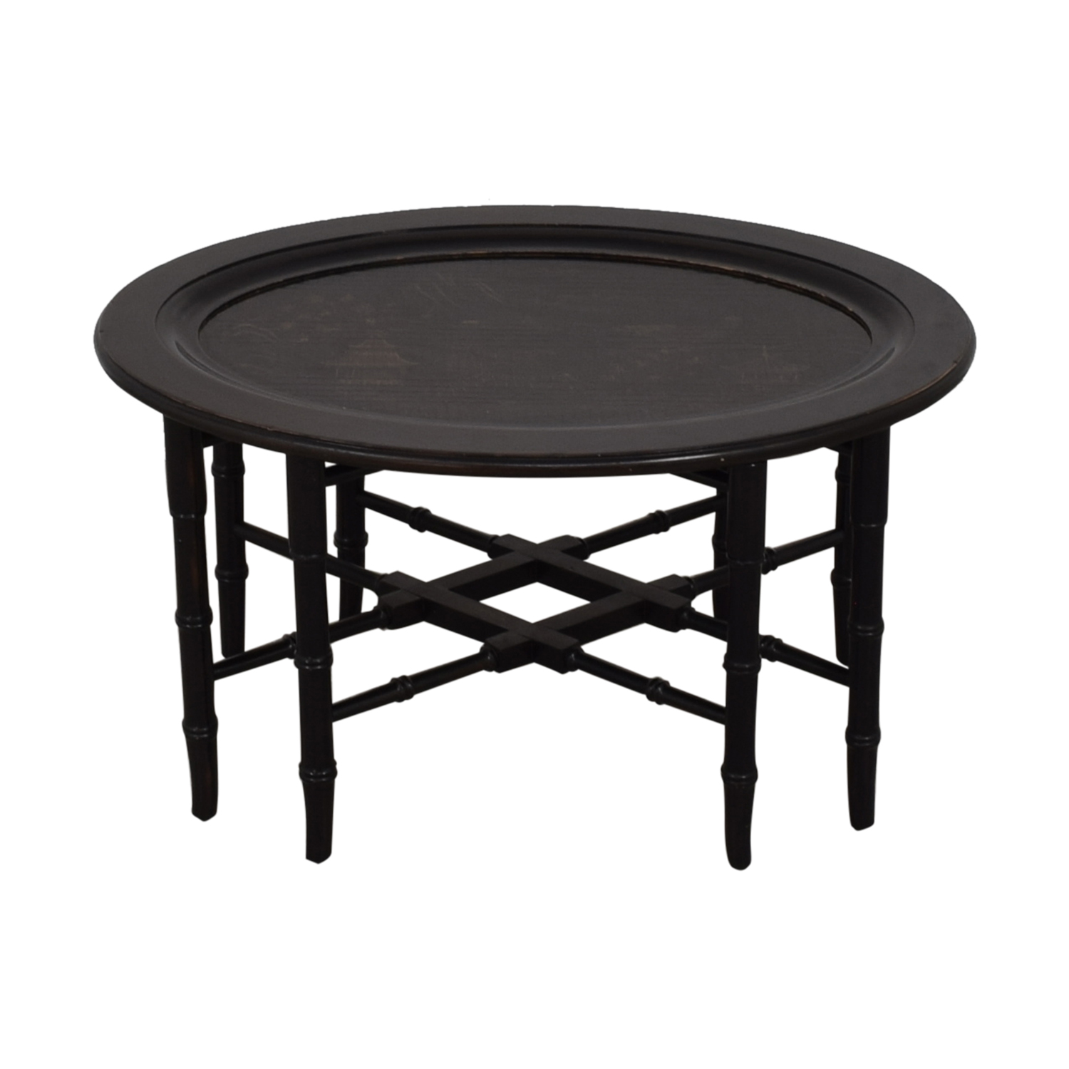 Used Ethan Allen Coffee Tables: Ethan Allen Ethan Allen Chinoiserie Oval Tray