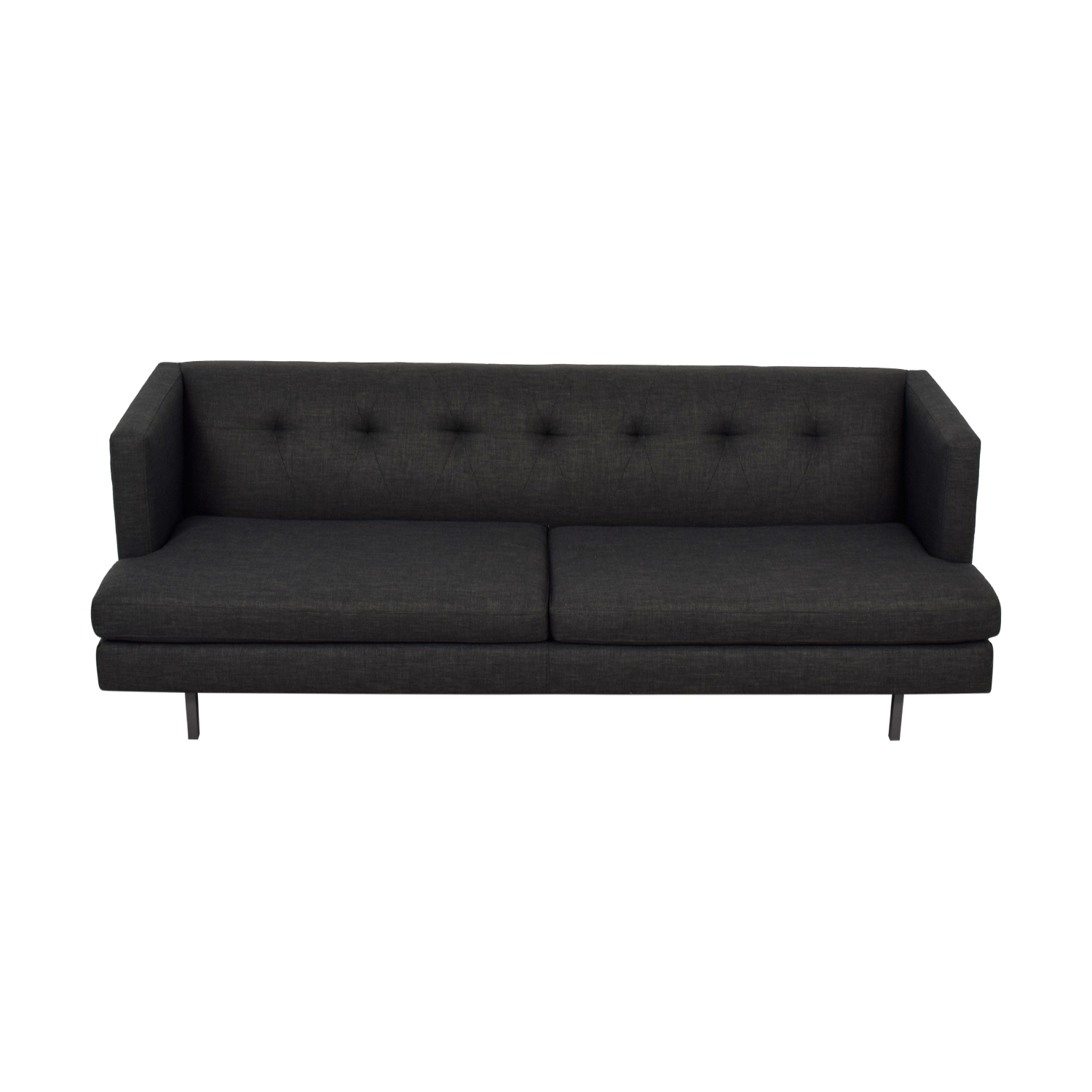 CB2 CB2 Avec Grey Semi-Tufted Two-Cushion Sofa on sale