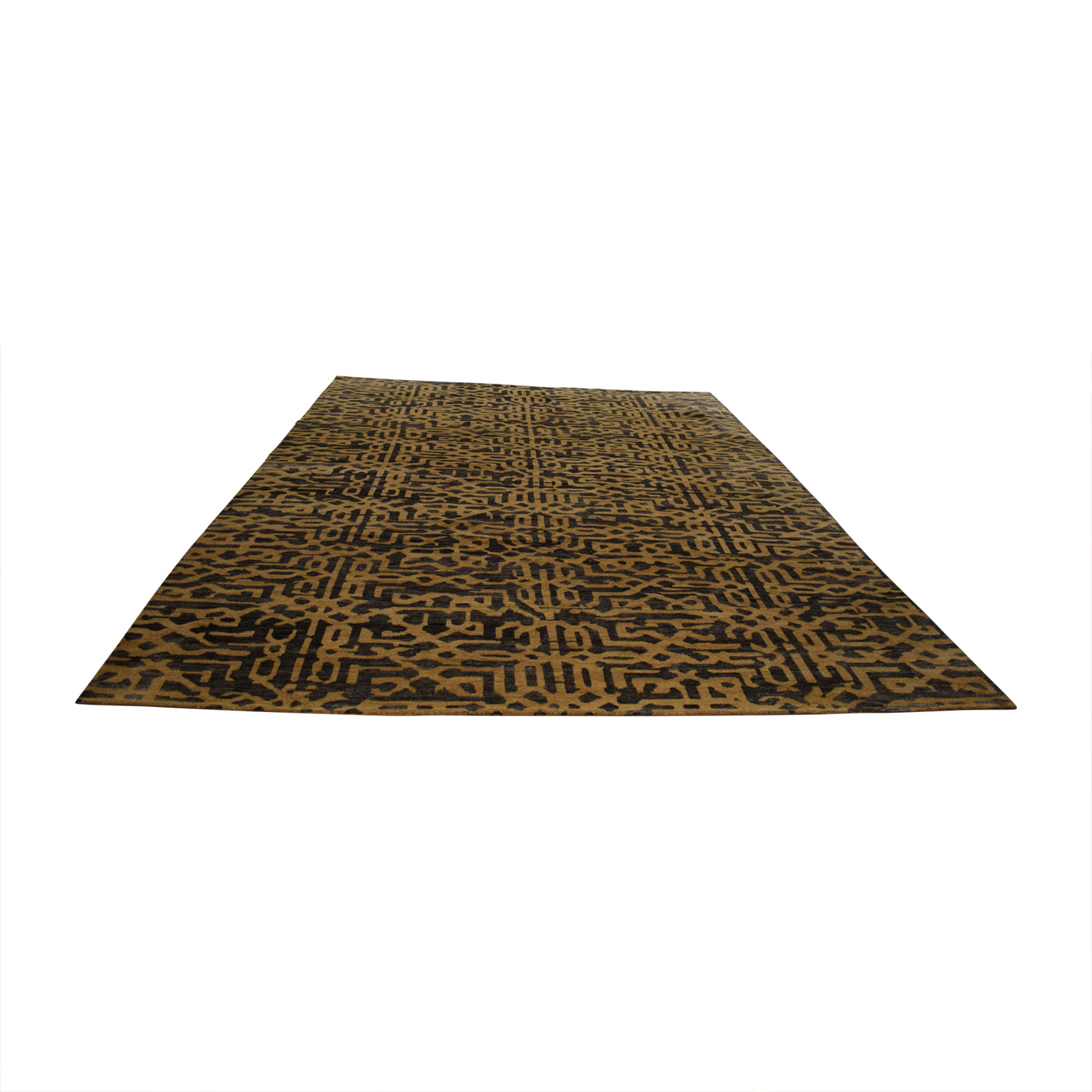 Obeetee Obeetee Handknotted Lattice Chocolate and Tan Rug coupon