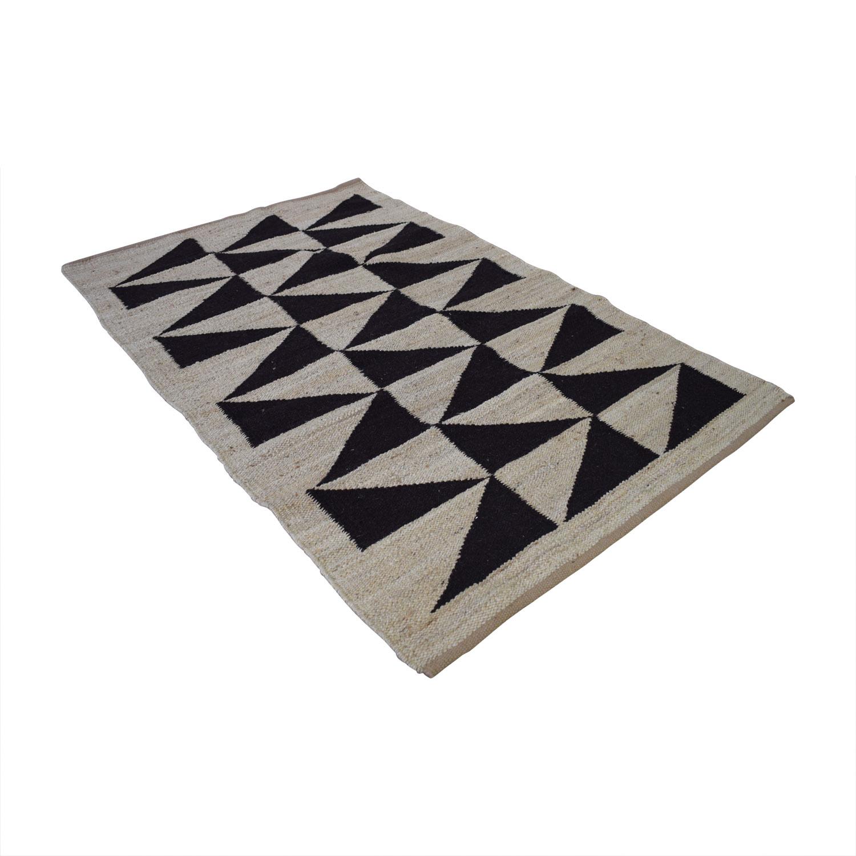 Obeetee Obeetee Geometric Linen Flat Weave Rug second hand