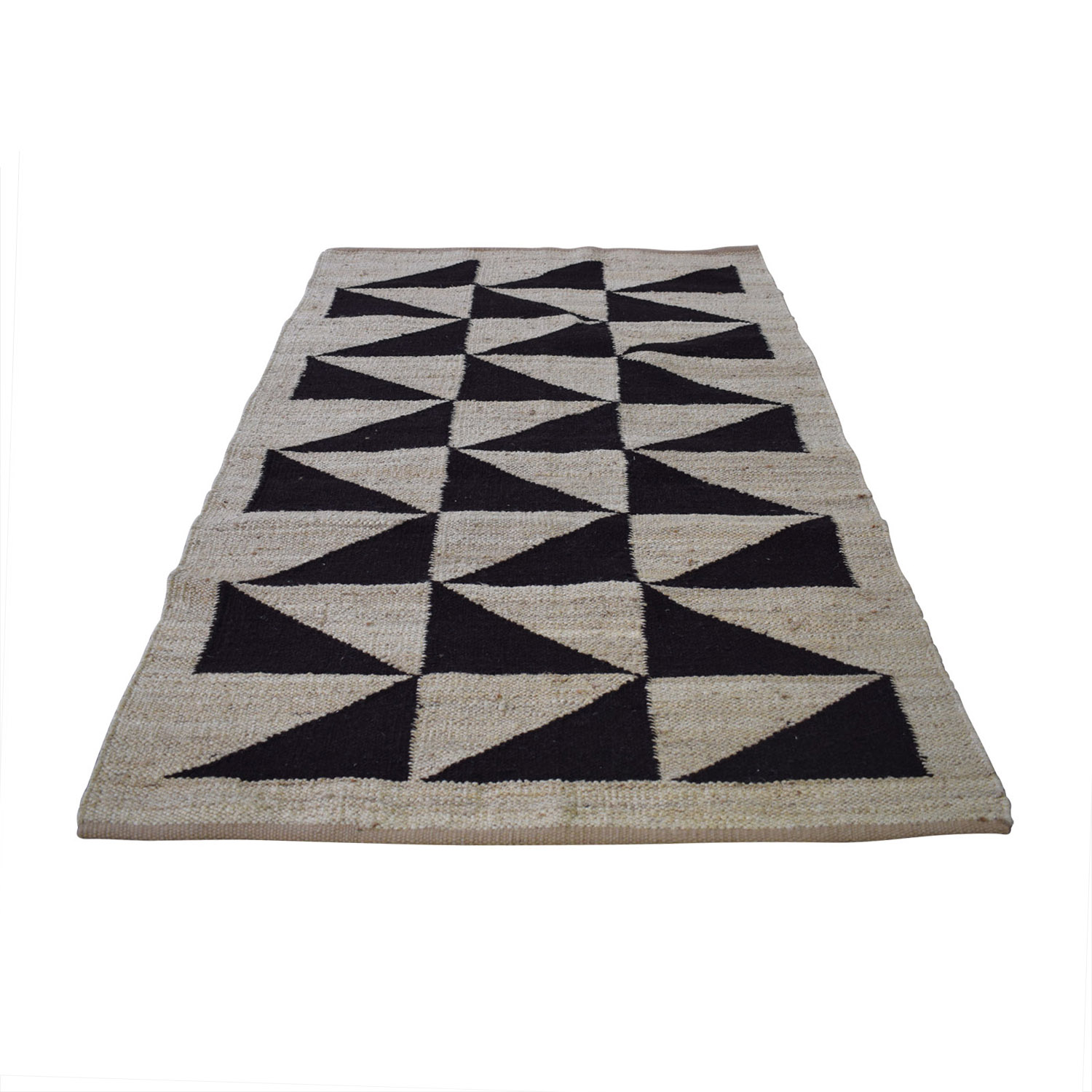 75 Off Obeetee Geometric Linen Flat Weave Rug Decor