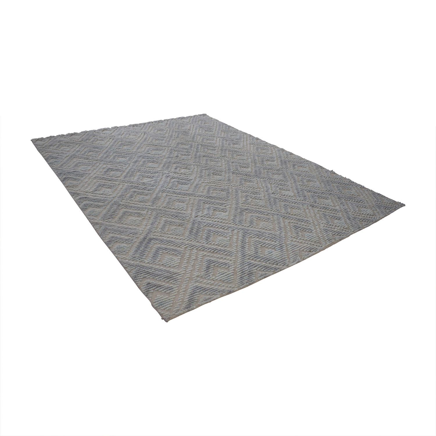 Obeetee Geo Handknotted Light Blue Rug sale