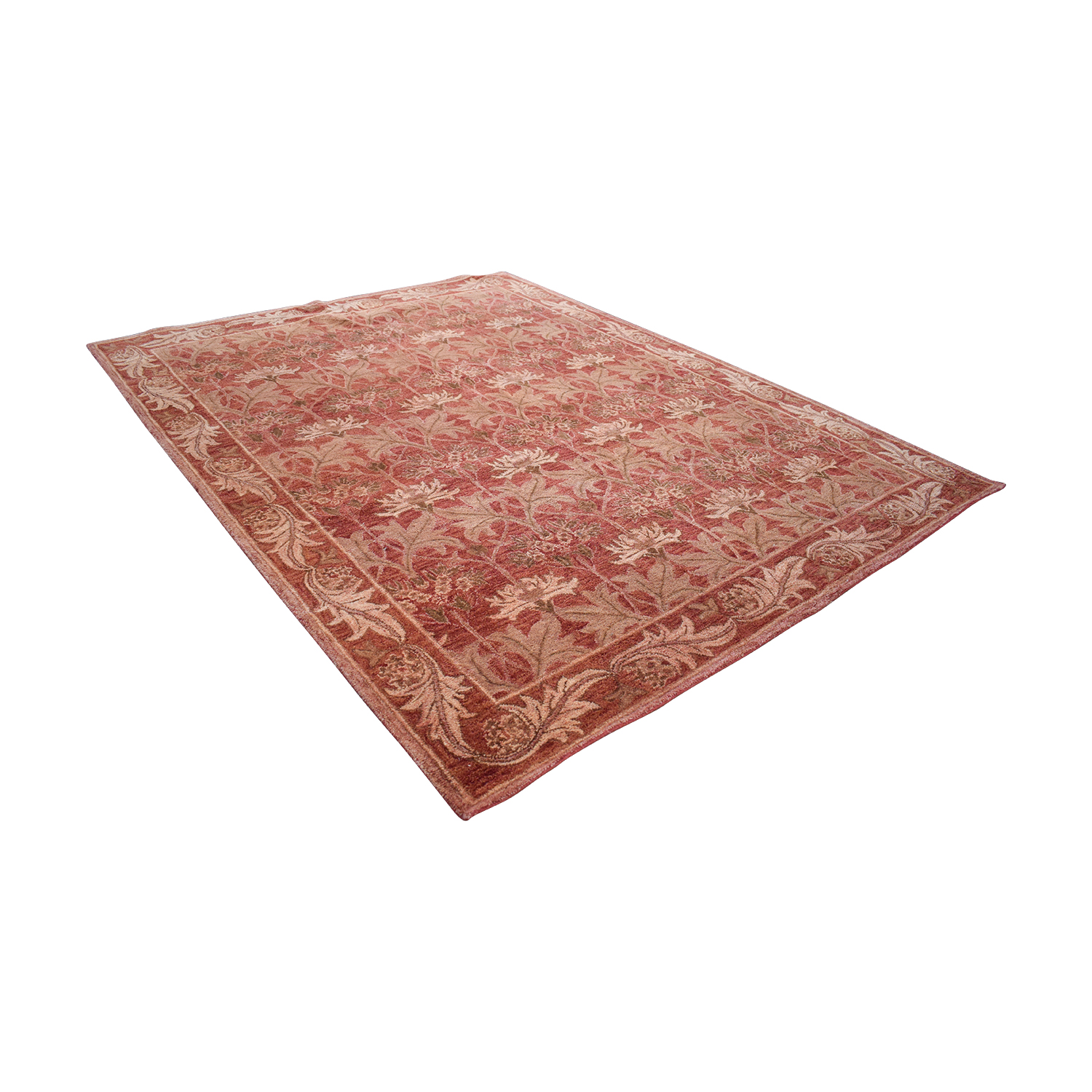 Obeetee Obeetee Red Floral Handtufted Rug coupon