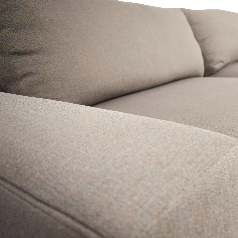 Room & Board Klein Tula Putty Two-Cushion Sofa Room & Board