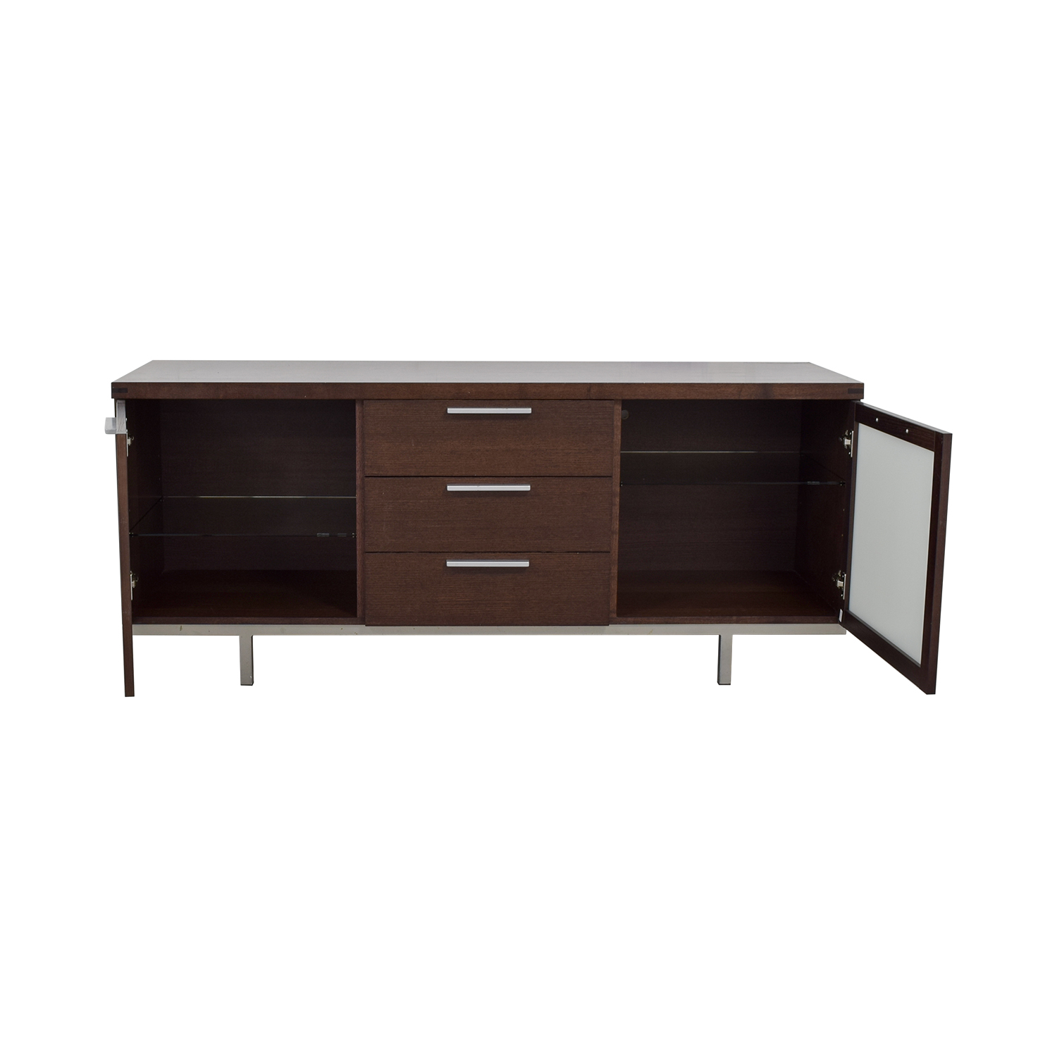 Calligaris Wood and Glass Buffet Calligaris