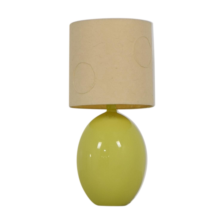 CB2 Green Table Lamp CB2