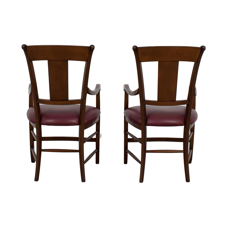 buy  Wood and Merlot Armchairs online
