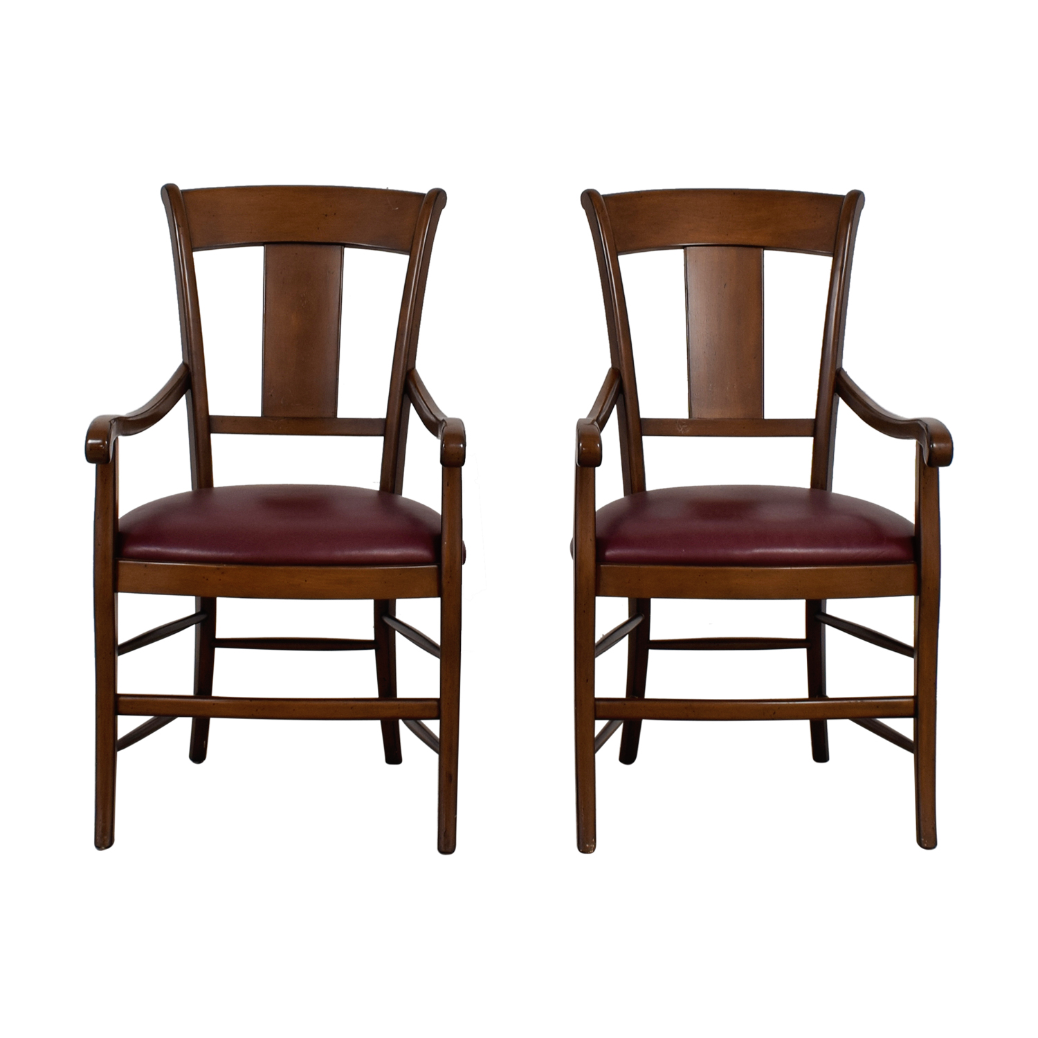 Wood and Merlot Armchairs coupon