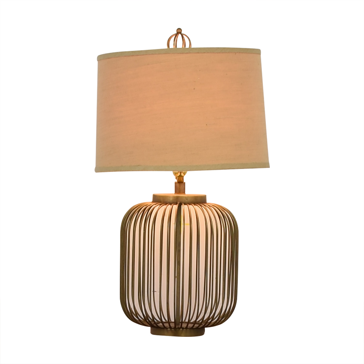 Cage Side Table Lamp