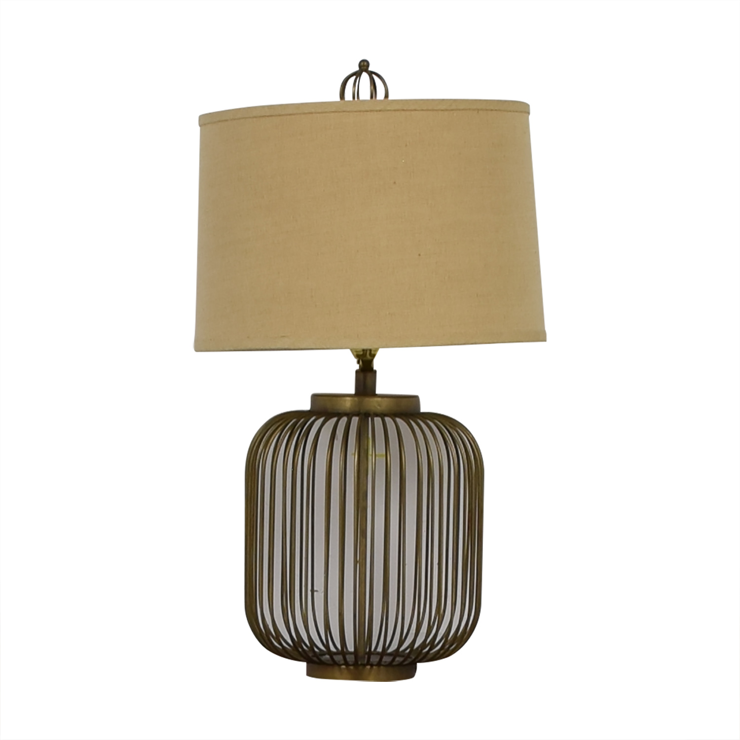 Cage Side Table Lamp used
