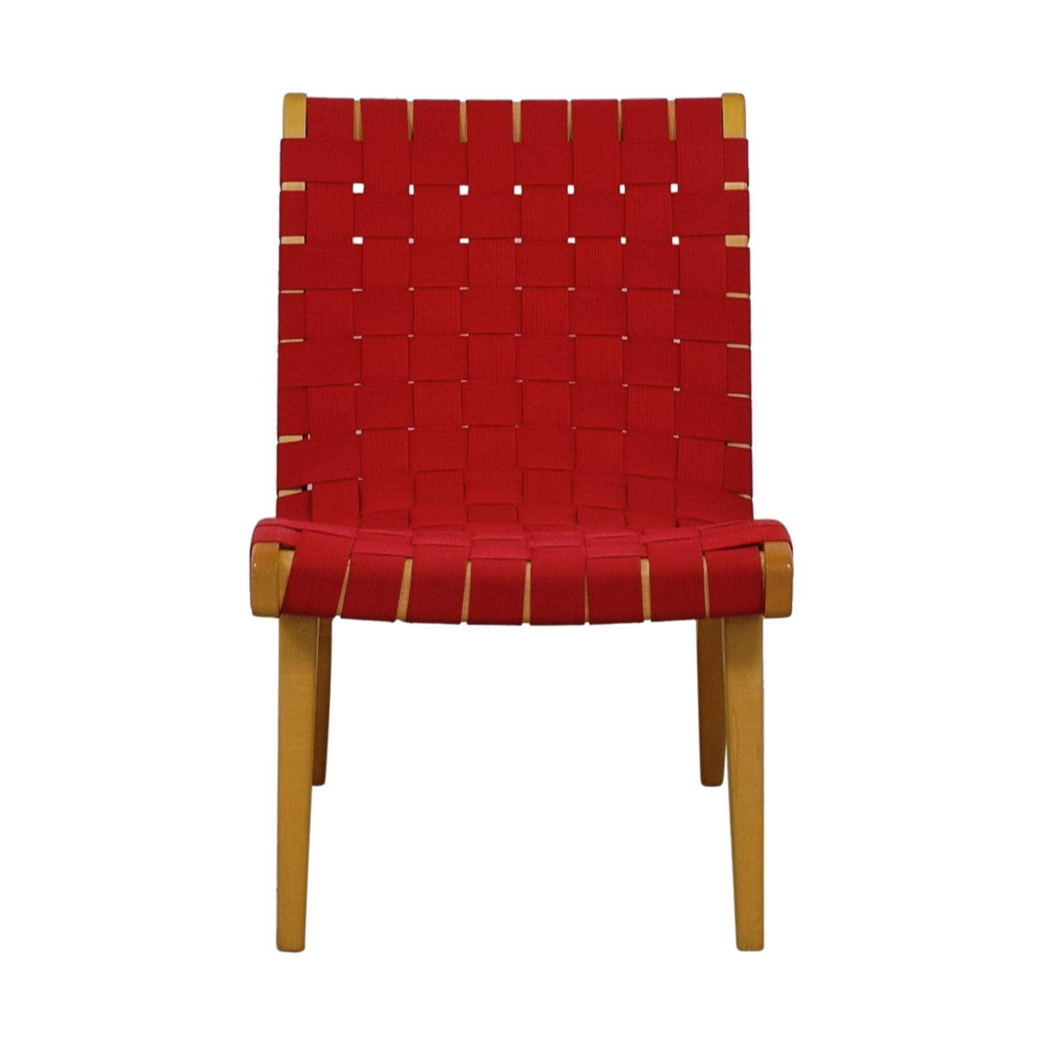 shop Knoll Risom Red Lounge Chair Knoll