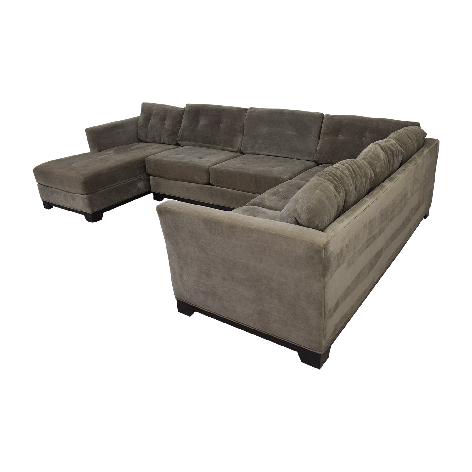 Fantastic 75 Off Jonathan Louis Jonathan Lewis Elliot Grey Tufted Microfiber Chaise U Shaped Sectional Sofas Ocoug Best Dining Table And Chair Ideas Images Ocougorg