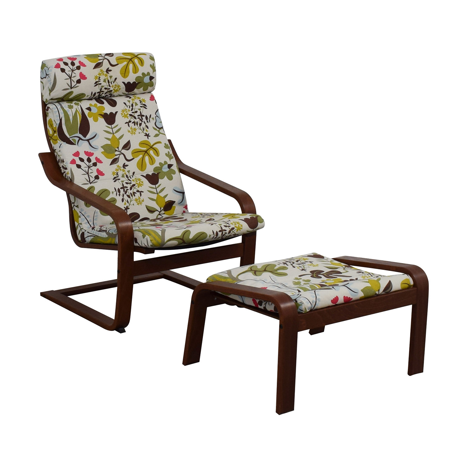 90% OFF - IKEA IKEA Poang Armchair and Ottoman / Chairs