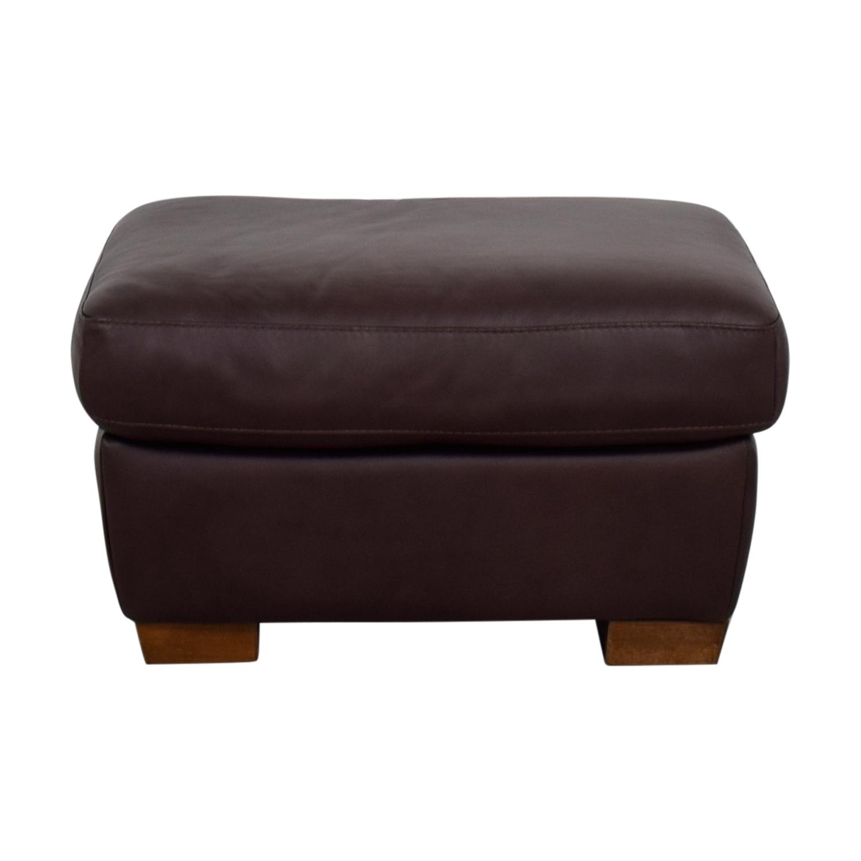 buy IKEA Brown Leather Ottoman IKEA Ottomans
