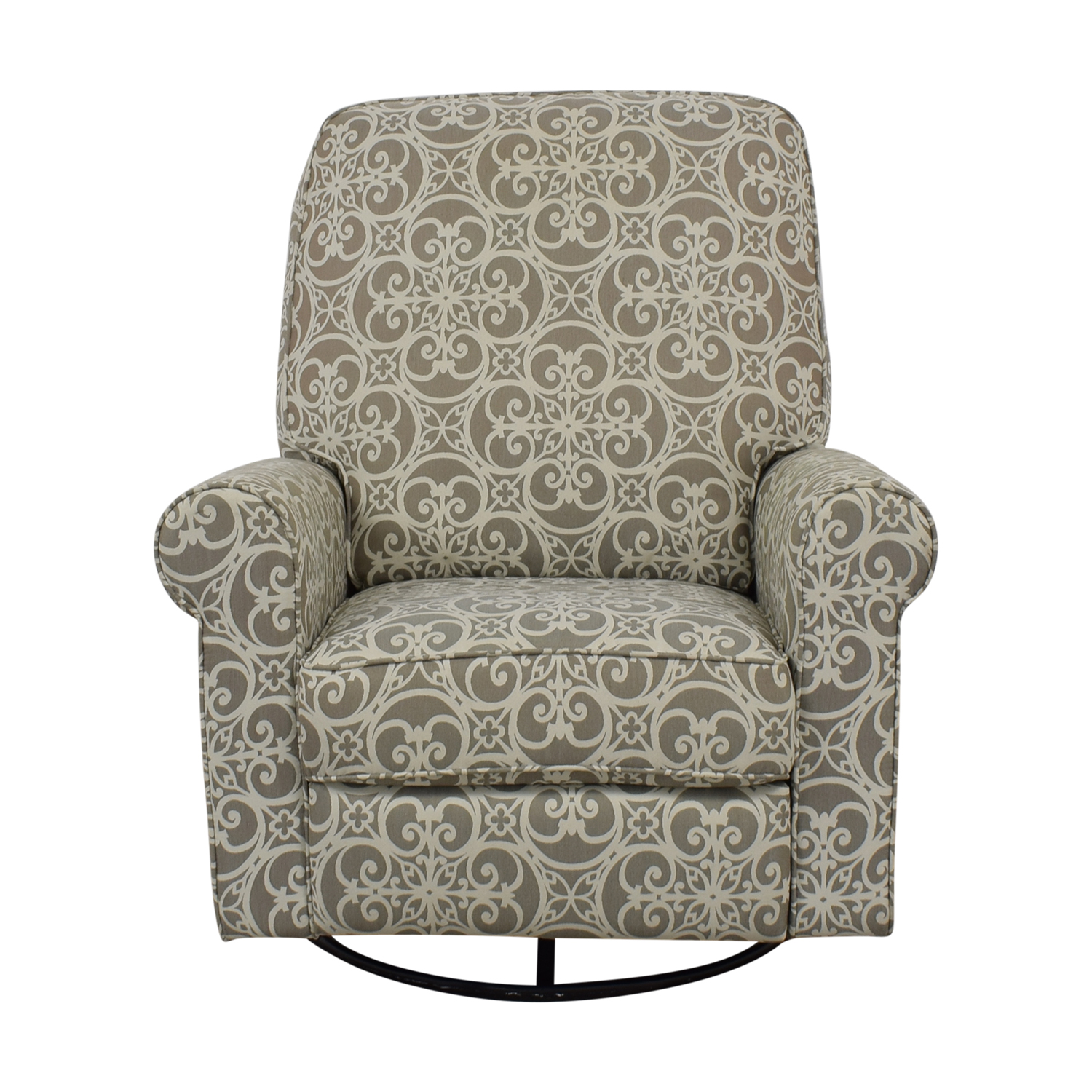 Abbyson Living Abbyson Living Grey and White Swivel Glider Rocking Chair for sale