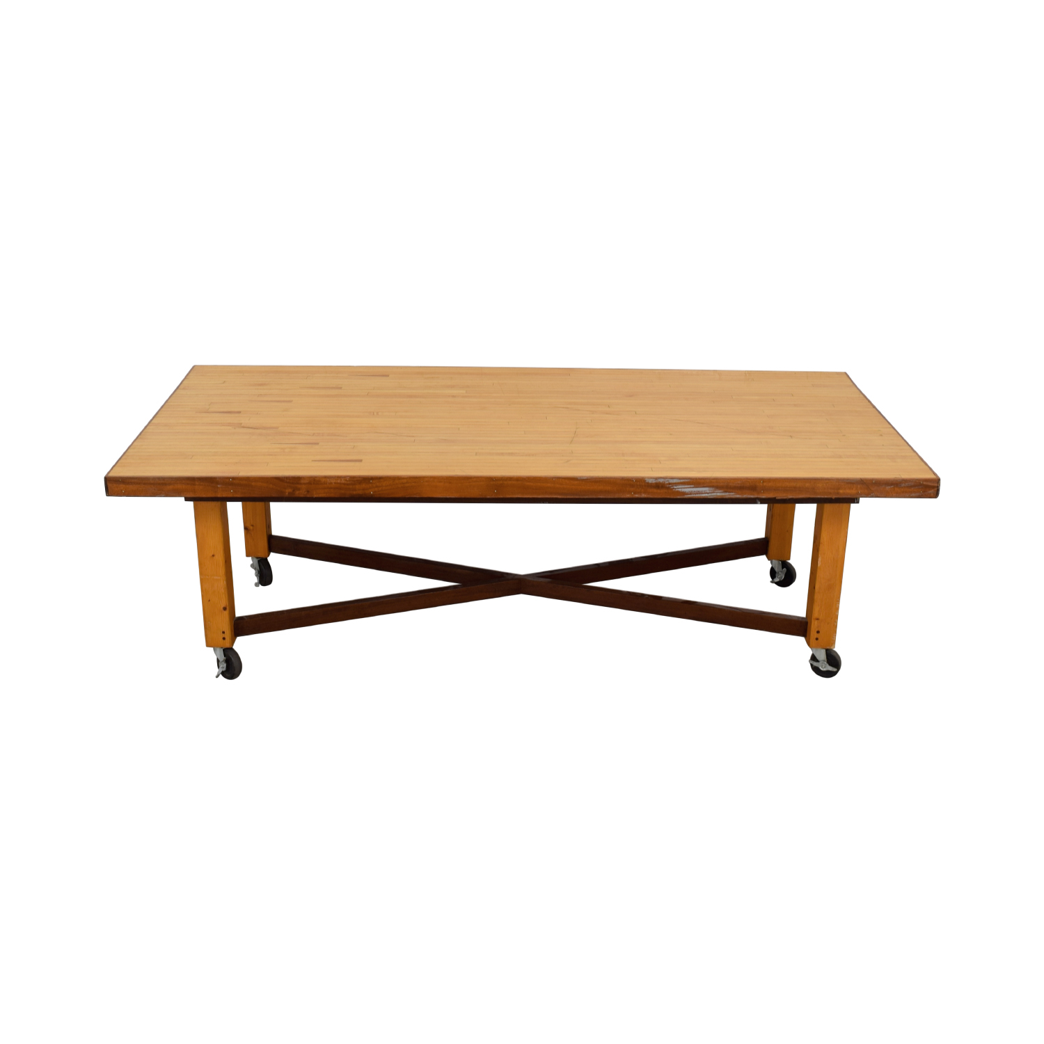 Bowling Alley Wood Dining Table nyc