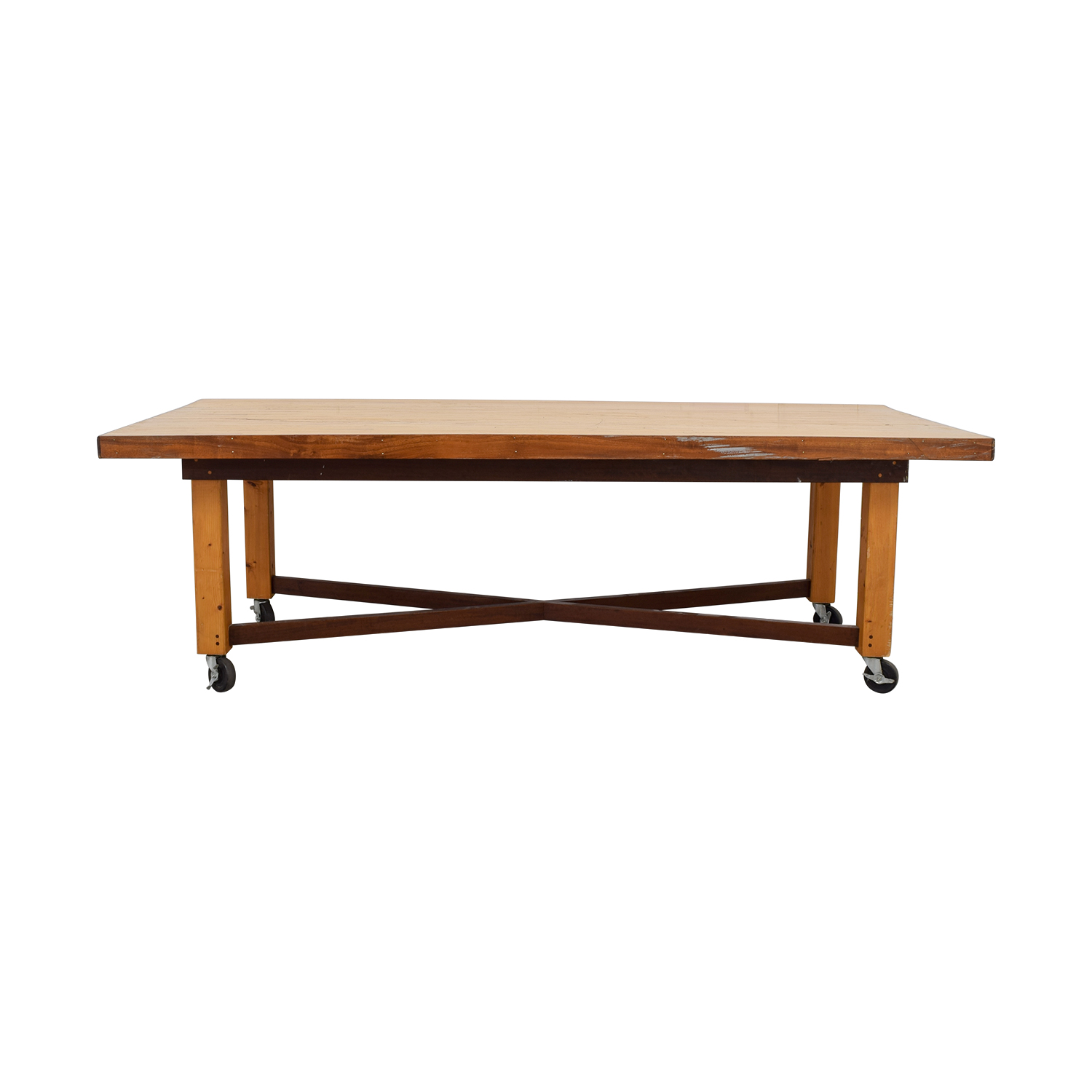 Bowling Alley Wood Dining Table dimensions