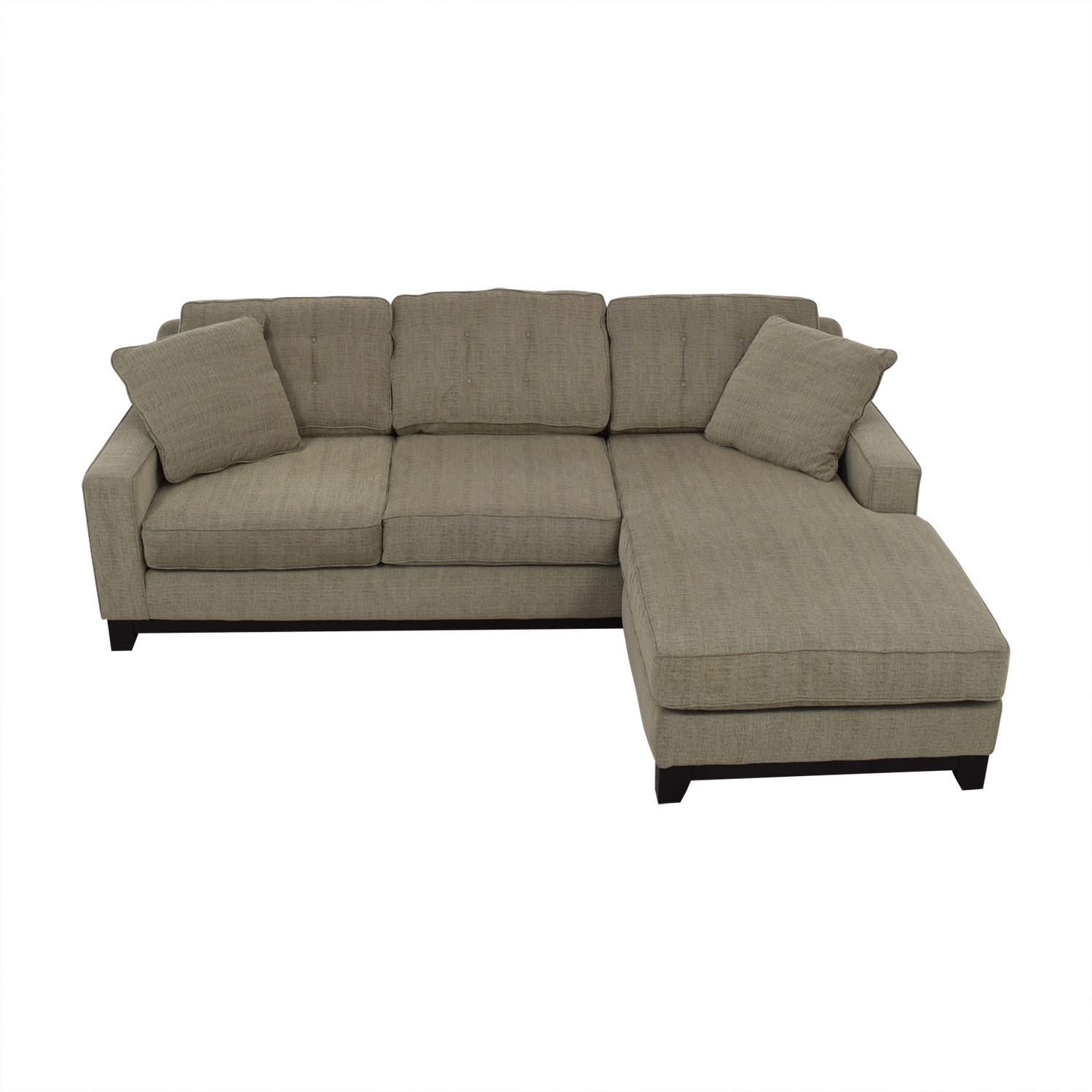 Macy's Macy's Gray Chaise Sectional dimensions