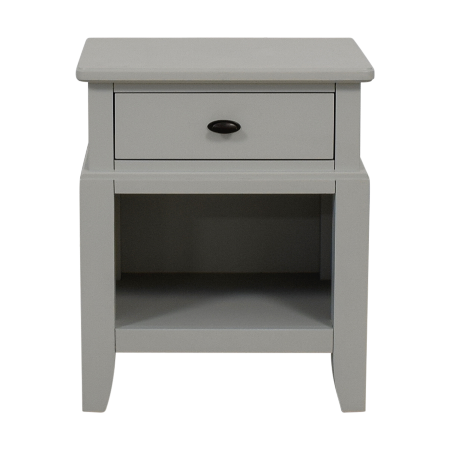 shop Macy's Grey Single Drawer Nightstand Macy's Tables