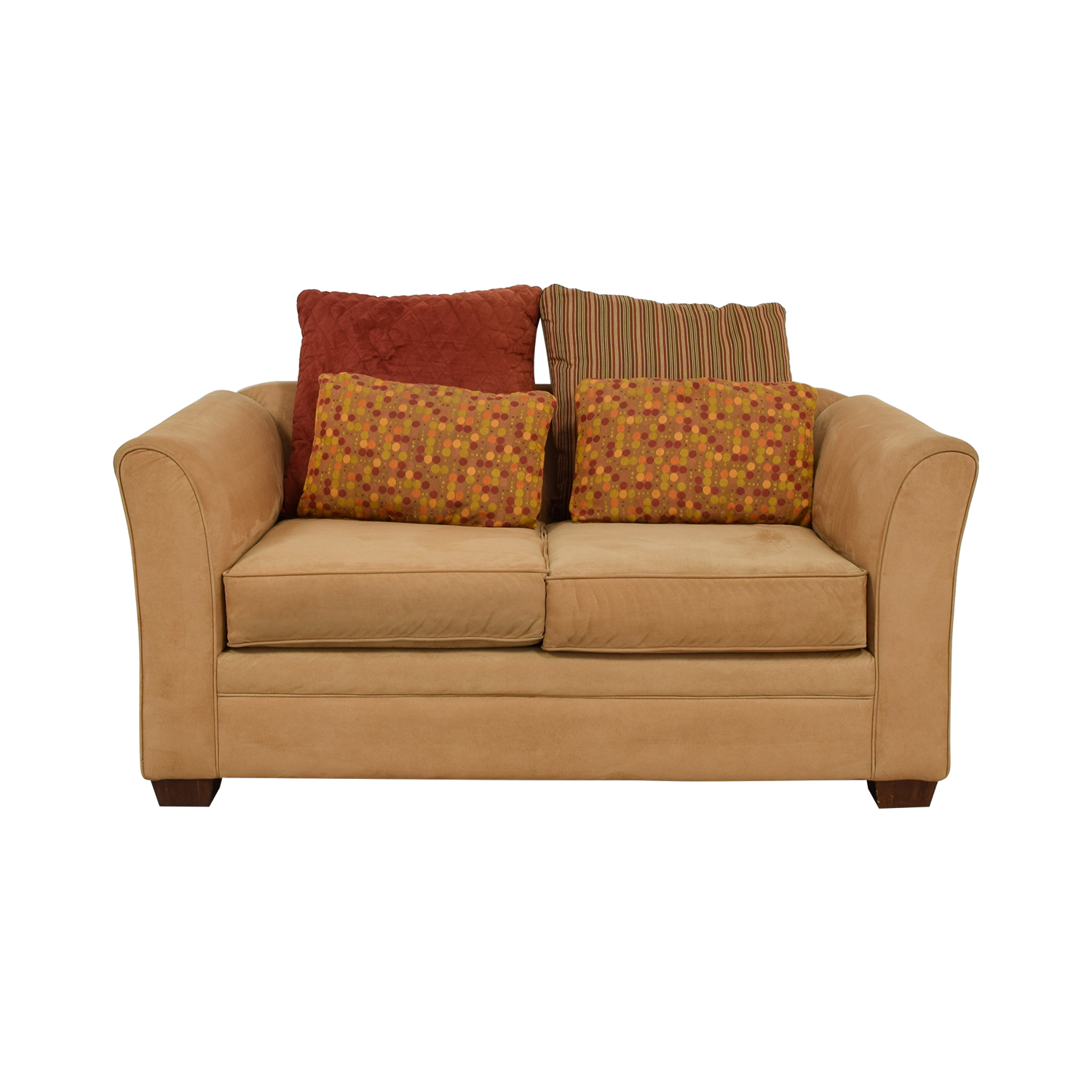 Raymour & Flanagan Raymour & Flanagan Camel Two-Cushion Loveseat used
