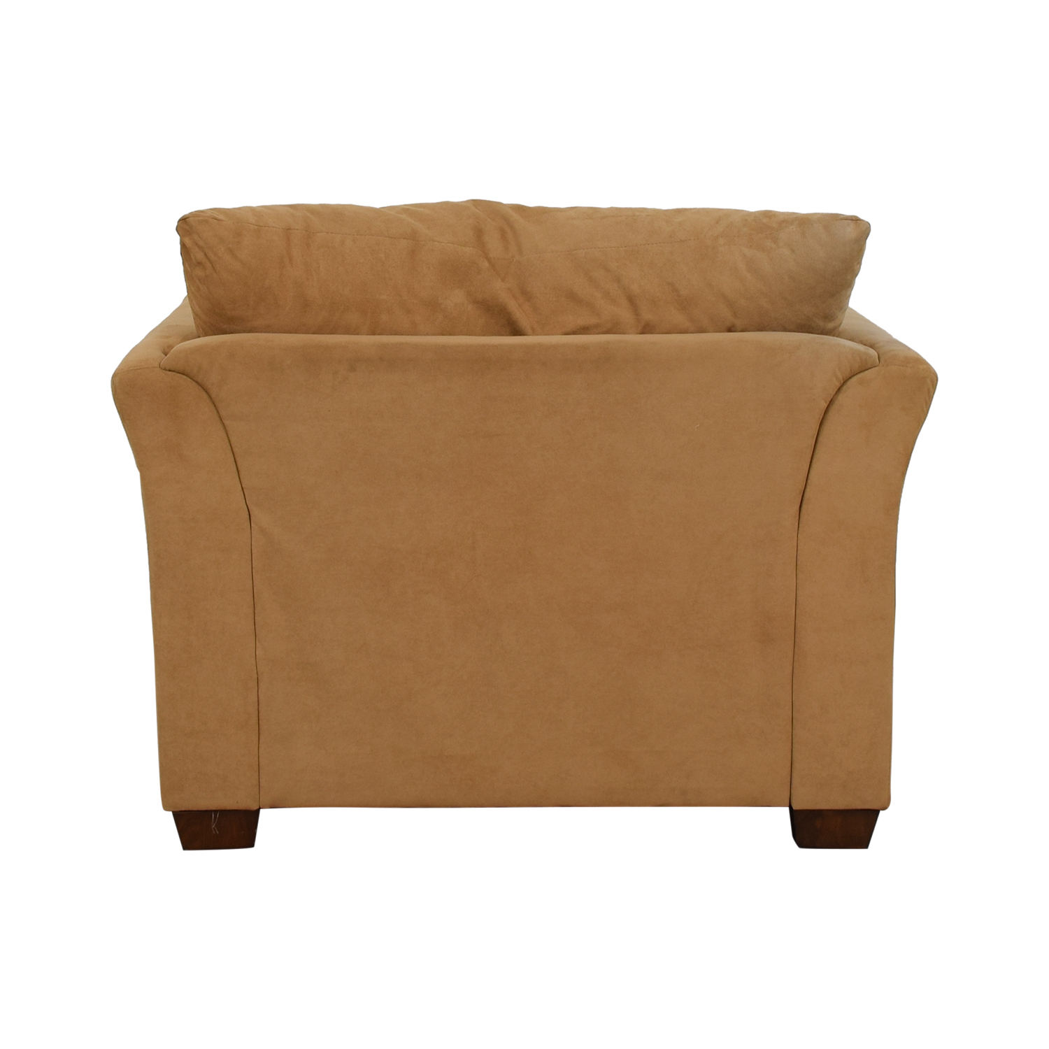 Raymour & Flanigan Raymour & Flanigan Camel Microsuede Accent Chair coupon
