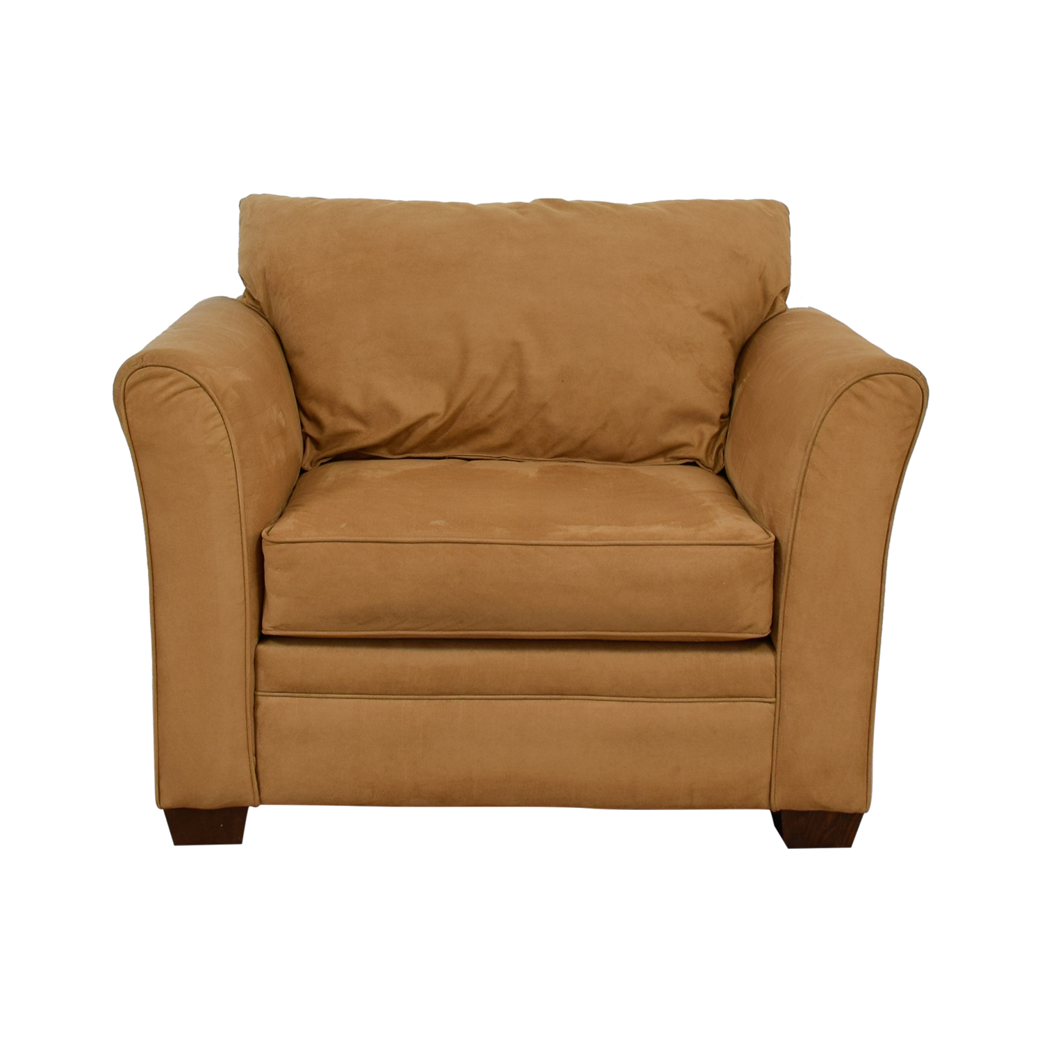 buy Raymour & Flanigan Camel Microsuede Accent Chair Raymour & Flanigan