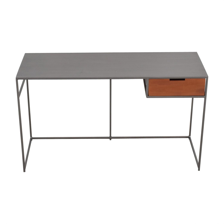 buy CB2 Guapo Metal Single Drawer Desk CB2