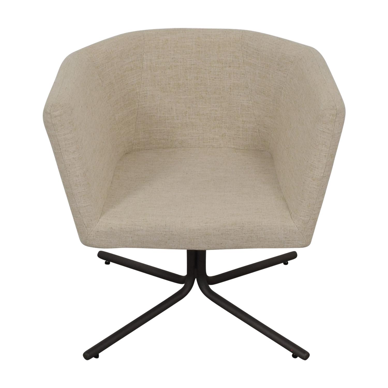 CB2 CB2 Ivory Swivel Chair on sale
