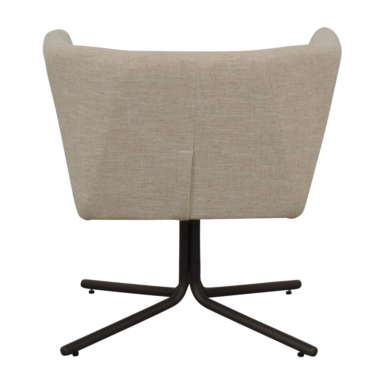 CB2 CB2 Ivory Swivel Chair nj