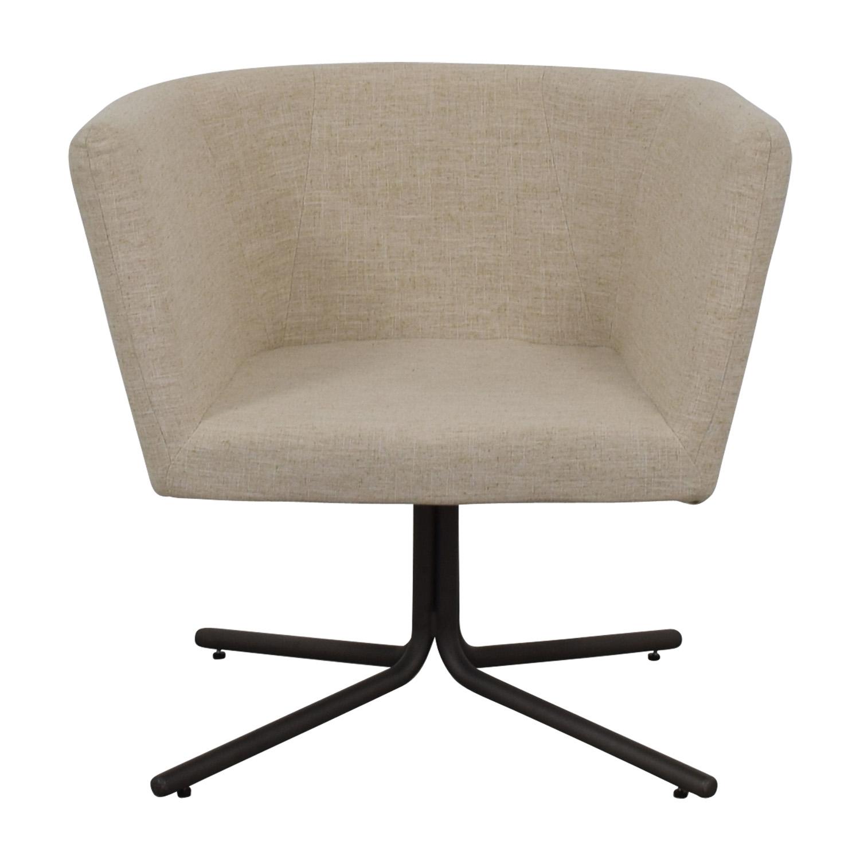 CB2 CB2 Ivory Swivel Chair