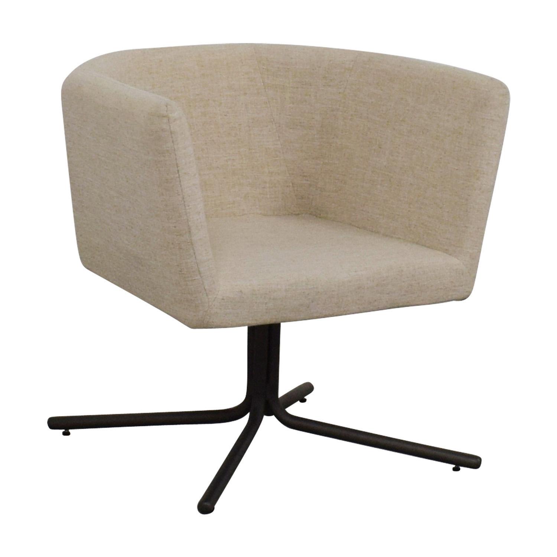 CB2 CB2 Ivory Swivel Chair nyc