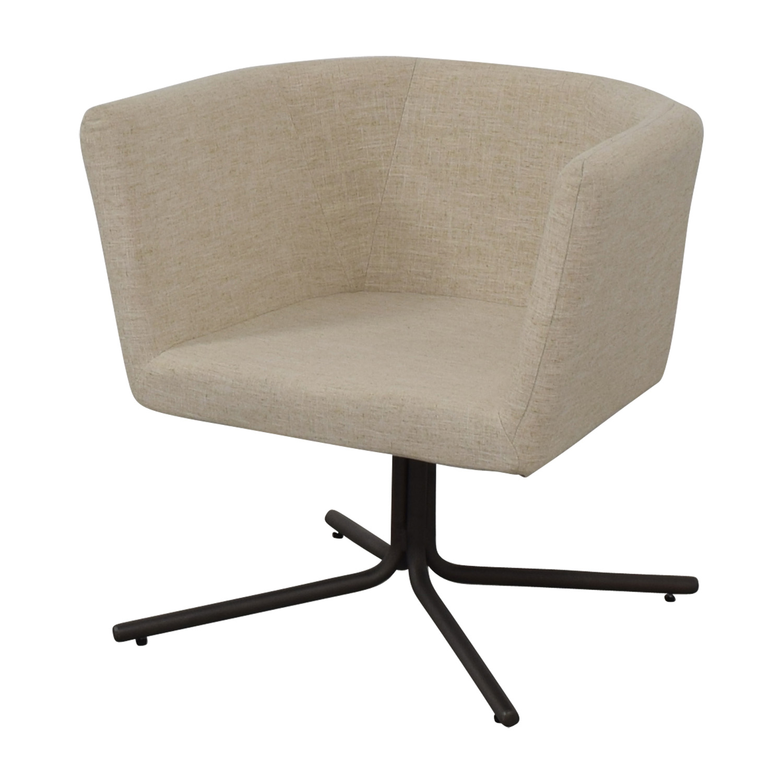 CB2 CB2 Ivory Swivel Chair Chairs