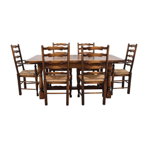 Fauld Fauld Refectory Wood Dining Set