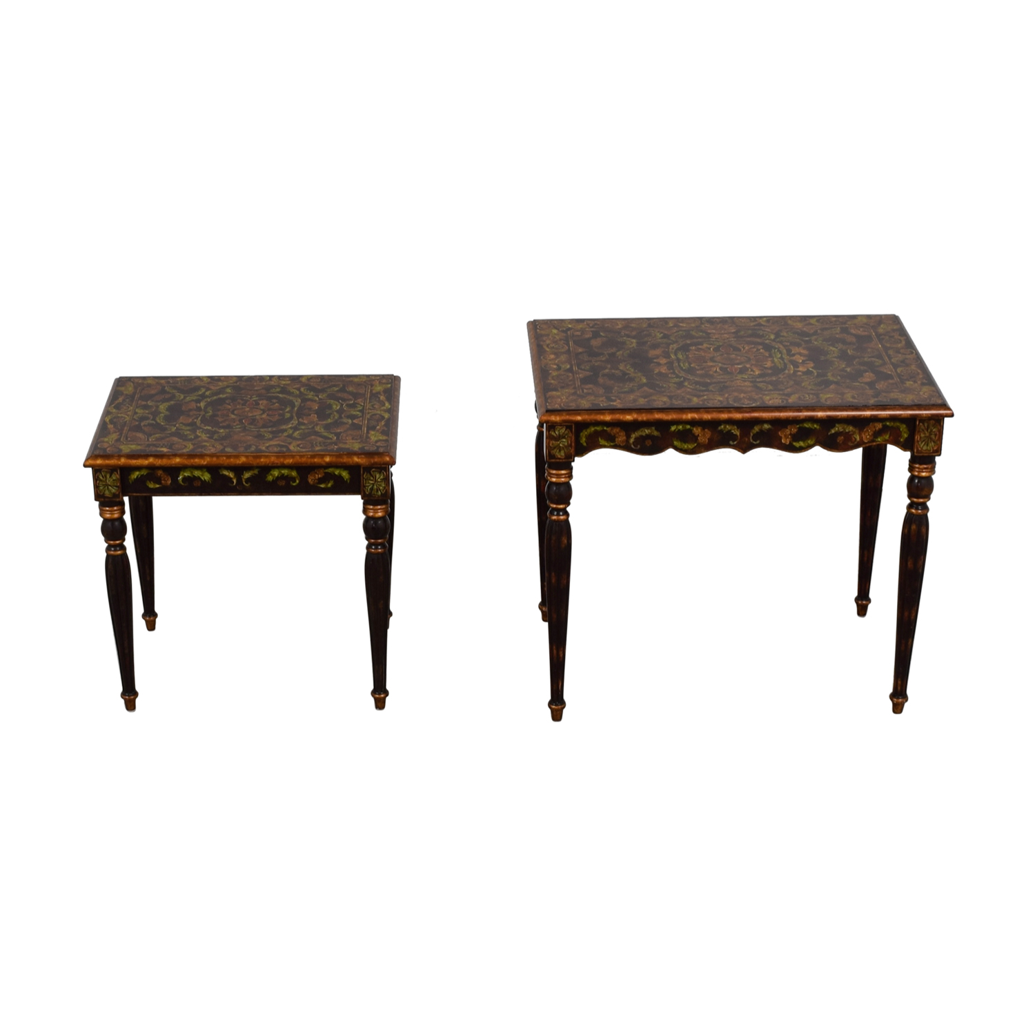 shop Sarried Handpainted Wood Nesting Tables Sarried