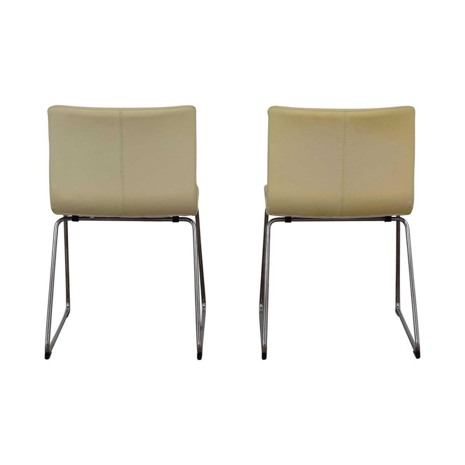 buy IKEA IKEA Bernhard Leather Dining Chairs online