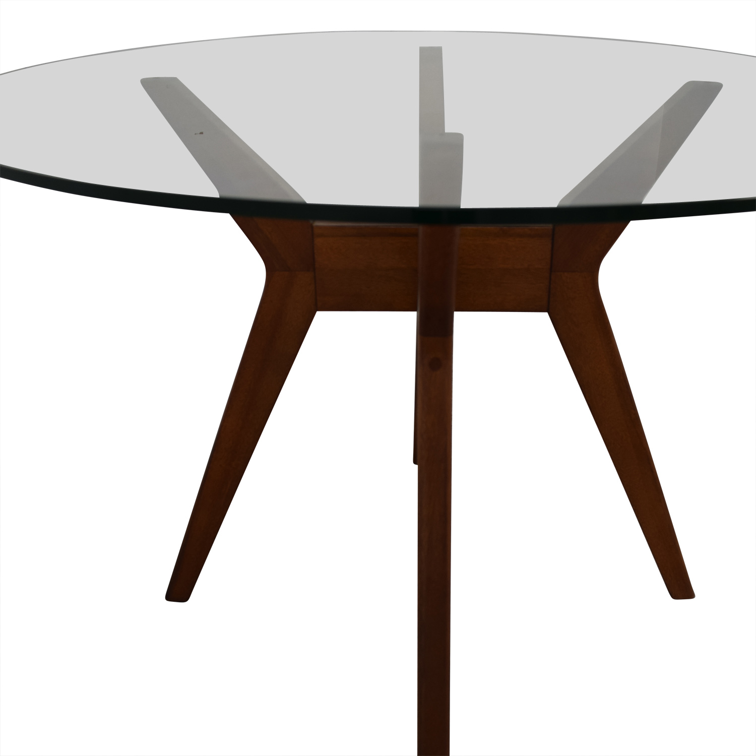 52 Off West Elm West Elm Jensen Round Glass Dining