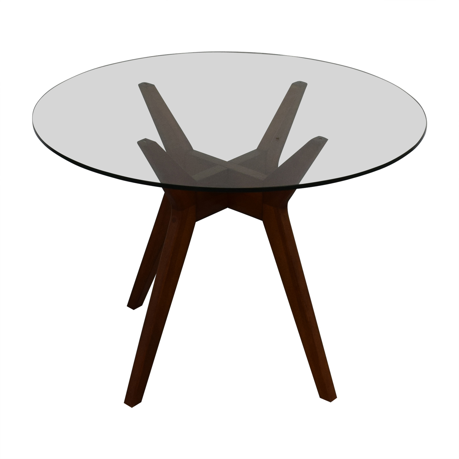 West Elm West Elm Jensen Round Glass Dining Table second hand