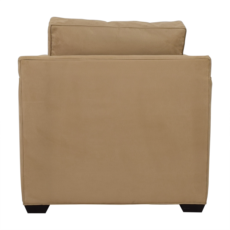 shop Crate & Barrel Davis Beige Accent Chair Crate & Barrel